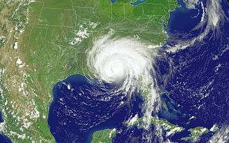 2005 Atlantic hurricane season - Hurricane Dennis making landfall on the Gulf Coast