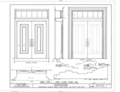 Detail, door type, first floor, front hall - Courthouse, Staten Island, Richmond (subdivision), Richmond County, NY HABS NY-6322 (sheet 8 of 10).png