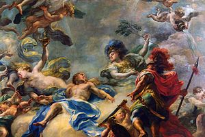 Giacomo del Pó - Giacomo del Po, detail of ceiling painting for the Obere Belvedere, Vienna.