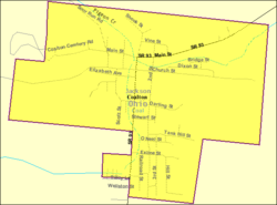 Detailed map of Coalton