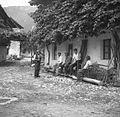 Detajl iz vasi Svino, na desni nekaj vaščanov 1951 (2).jpg