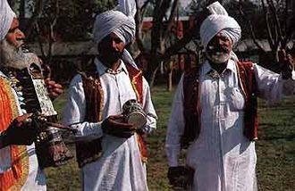Dhadi (music) - A performance by a Dhadi Jatha