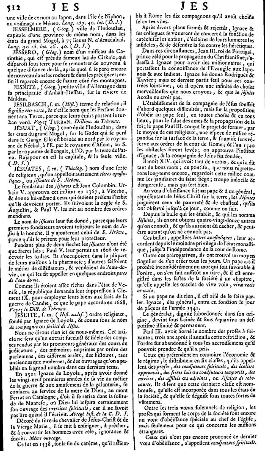 encyclopedie chevalier de jaucourt