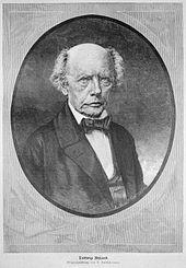 Ludwig Uhland auf einer Lithographie nach einer Zeichnung von Rudolf Huthsteiner, veröffentlicht in Die Gartenlaube, 1887 (Quelle: Wikimedia)