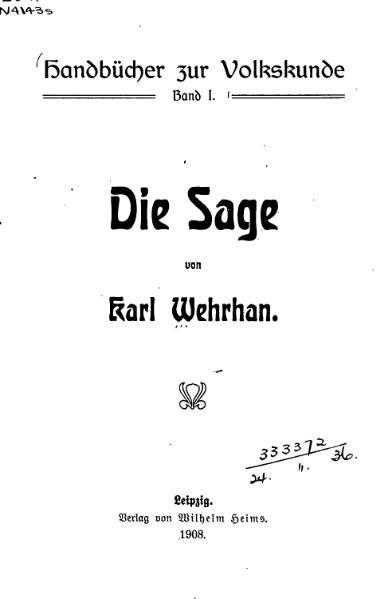 File:Die Sage-Karl Wehrhan-1908.djvu
