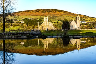 Baltinglass Abbey - View of Baltinglass Abbey looking across the Slaney