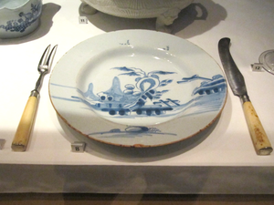 Table knife - An English dinner setting, c. 1750