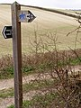 Direction post at Three Corners - geograph.org.uk - 151967.jpg