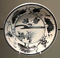 Dish with Landscape Design, c. 1620-1630, Arita, hard-paste porcelain with underglaze cobalt - Gardiner Museum, Toronto - DSC00372.JPG