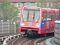 Docklands Light Railway train 48 approaching Deptford Bridge 2005-12-10.jpg
