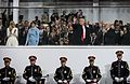 Donald Trump at Inaugural parade presidential review stand 01-20-17.jpg