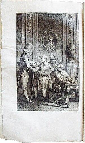 Claude Joseph Dorat - Image: Dorat les Prôneurs ou le Tartuffe littéraire gravure 2 EO Delalain 1777