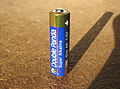 Double Panda LR6 AA alkaline battery in sunlight.jpg