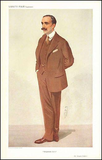 Douglas Vickers - Vickers as caricatured by Spy (Leslie Ward) in Vanity Fair, December 1909