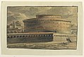 Drawing, Stage Design, Exterior of Circular Building, early 19th century (CH 18358865).jpg