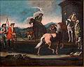 Dresura konja- Dresura belega konja (po Georgu Philippu Rugendasu).jpg