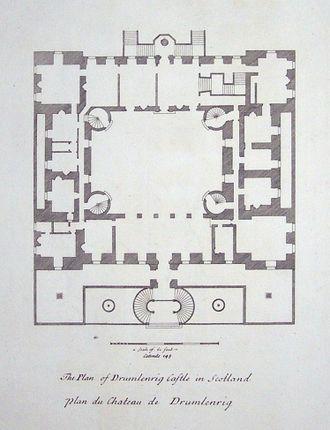 Drumlanrig Castle - Image: Drumlanrig plan