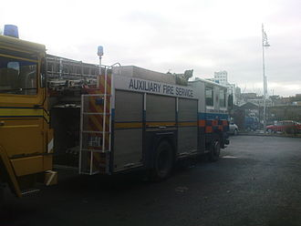 Auxiliary Fire Service - A 1986 Dennis fire engine of the Dublin Auxiliary Fire Service, Ireland. Budgetary constraints mean that the AFS usually depends on donated ex-frontline vehicles.