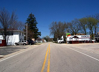 Dundee, Wisconsin - Looking north at Dundee on Highway 67