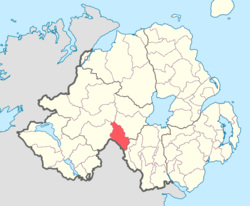 Location of Dungannon Lower, County Tyrone, Northern Ireland.