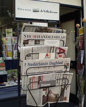 Media of the Netherlands - Newspaper rack in Nijmegen