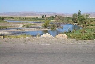 river in Kyrgyzstan and Kazakhstan