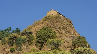 Christianity in Ethiopia - The Abba Pentalewon Monastery near Aksum