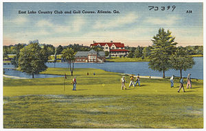 East Lake Golf Club - Old postcard of the course at East Lake.