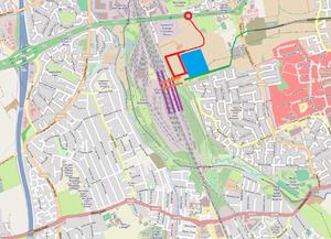 East Midlands Hub railway station - Proposed layout of the East Midlands Hub station at Toton.