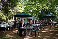Easton Lodge Gardens, Little Easton, Essex, England outdoor café 04.jpg