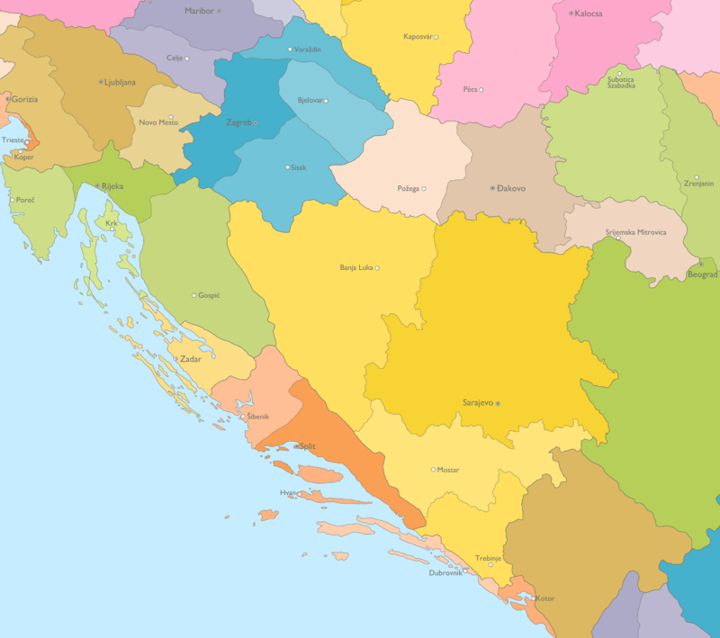 Ecclesiastical hierarchy and provinces in countries of Adriatic Sea: Croatia, Bosnia and Herzegovina, Slovenia, Montenegro Ecclesiastical hierarchy and provinces in countries of Adriatic Sea.png