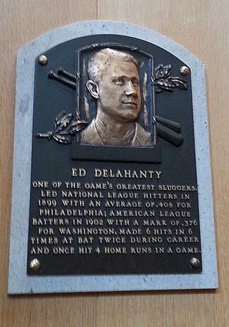 Ed Delahanty - Delahanty's plaque at the Baseball Hall of Fame