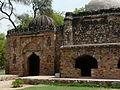Edge of Makhdum Sahib mosque and entrance building (3548105094).jpg
