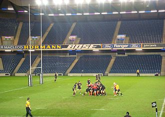 Edinburgh Rugby - Edinburgh playing against Munster at Murrayfield Stadium in the 2007–08 Celtic League
