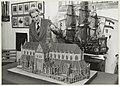 Een maquette van de Grote of St. Bavokerk, gemaakt door M.J. Bouwer. NL-HlmNHA 54005138.JPG
