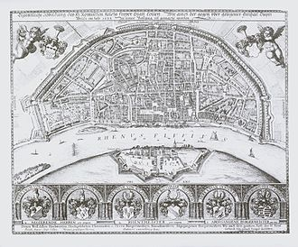 Districts of Cologne - map of Cologne, 1633