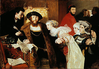 Christian II signing the Death Warrant of Torben Oxe