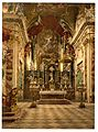 Einsiedeln, the altar in the Pilgrams' Church, Lake Lucerne, Switzerland-LCCN2001703081.jpg