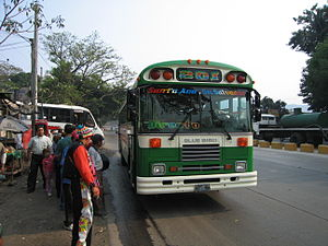 Transport in El Salvador - The bus running between Santa Ana and San Salvador.