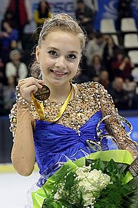 Elena Radionova at the Trophee Eric Bompard 2014 - Awarding ceremony 02.jpg