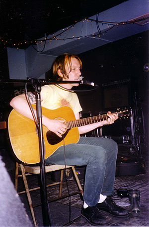 Elliott Smith - Smith performing at Brownies, New York City in April 1997, shortly after the release of Either/Or.