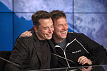 Elon Musk and Hans Koenigsmann at the SpaceX CRS-8 post-launch press conference (25713272733).jpg