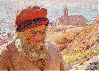 Ampelio, old fisherman of Bordighera