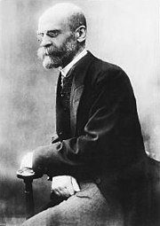 Emile Durkheim is considered as one of the founding fathers of sociology.