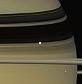 Enceladus and Mimas - June 28 2007 (34786156493).jpg