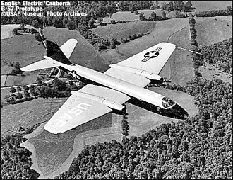 Martin B-57 Canberra - The British-built Canberra B.2 that was used as a pattern and prototype for the B-57