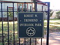Entrance to Robert W. Trombino Overlook Park.JPG