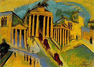 History of Berlin - The Brandenburg Gate depicted by Ernst Ludwig Kirchner in 1912