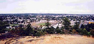 Esquimalt - View of Esquimalt from the Highrock Cairn