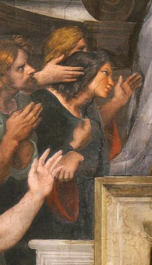 The Mass at Bolsena - Image: Estancia de Heliodoro (Misa de Bolsena), detail
